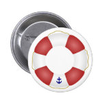 Nautical Life preserver 2 Inch Round Button