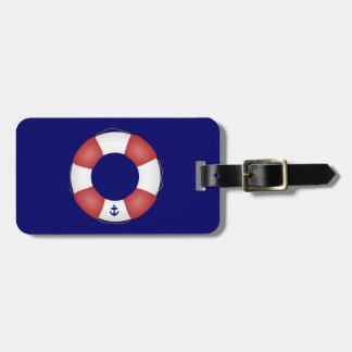 Nautical Life preserver Bag Tag