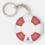 Nautical Life preserver Basic Round Button Keychain