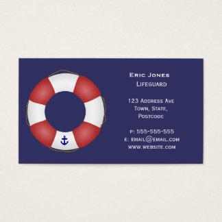 Nautical Life preserver Business Card