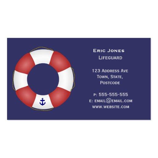 Nautical Life preserver Business Card Template
