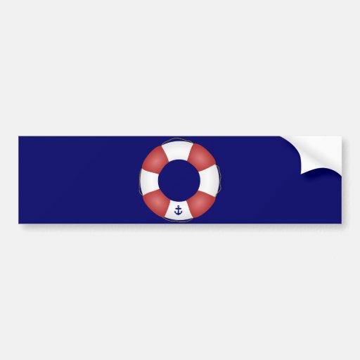 Nautical Life preserver Car Bumper Sticker