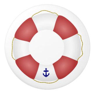 Nautical Life preserver Ceramic Knob