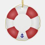 Nautical Life preserver Ceramic Ornament