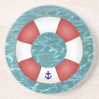 Nautical Life preserver Beverage Coasters