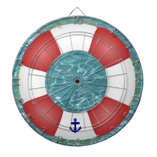 Nautical Life preserver Dart Board