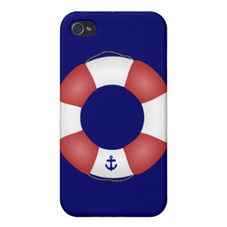 Nautical Life preserver iPhone 4 Case