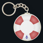 "Nautical Life preserver Keychain<br><div class=""desc"">Please note there is no hole in the middle of the keychain. It contains a graphic printed on a circular keychain, complete with solid middle. nautical, life preserver, life, preserver, float, boating, pool, boat, ship, sailing, sailor, floatation, ships, boats, sail, swimming, &quot;swimming pool&quot;, sails, red, white, blue, personalized, text, personal,...</div>"