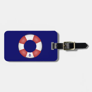 Nautical Life preserver Tag For Luggage