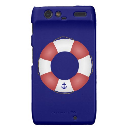 Nautical Life preserver Motorola Droid RAZR Cover