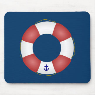 Nautical Life preserver Mouse Pad