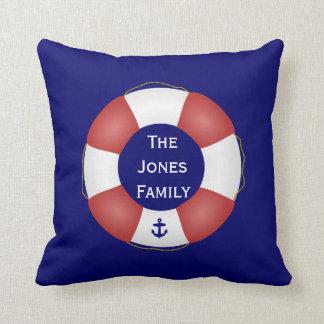Nautical Life preserver Throw Pillow