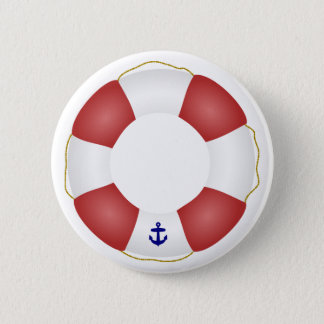 Nautical Life preserver Pinback Button