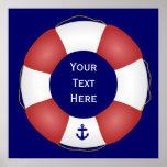 Nautical Life preserver Poster