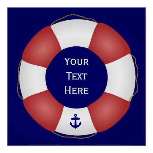 Nautical Life preserver Print
