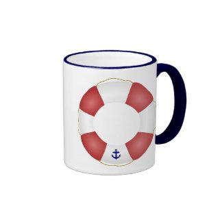 Nautical Life preserver Ringer Mug