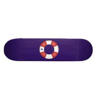 Nautical Life preserver Skateboard