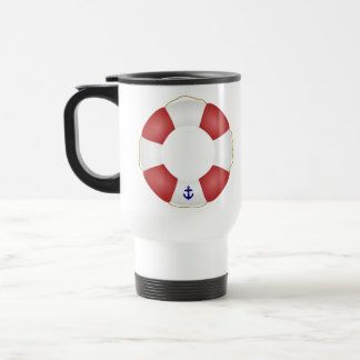 Nautical Life preserver Travel Mug