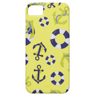 Nautical Life - Yellow Background iPhone 5 Cover