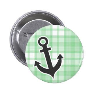 Nautical Light Green Plaid Pins