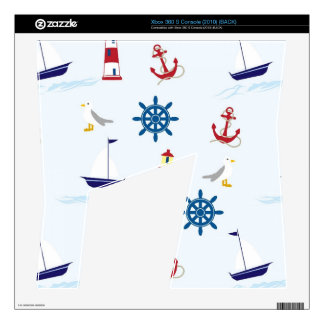 Nautical Lighthouse Background Decals For Xbox 360 S