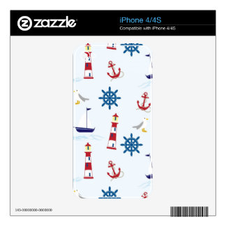 Nautical Lighthouse Background iPhone 4 Decals