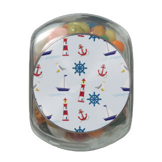 Nautical Lighthouse Background Jelly Belly Candy Jars