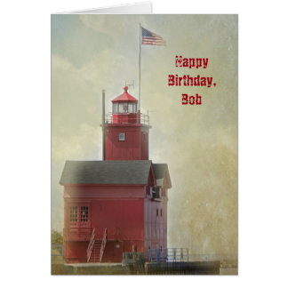 Nautical Lighthouse Birthday Card