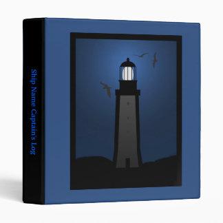 Nautical Lighthouse Captain's Log Book Binder