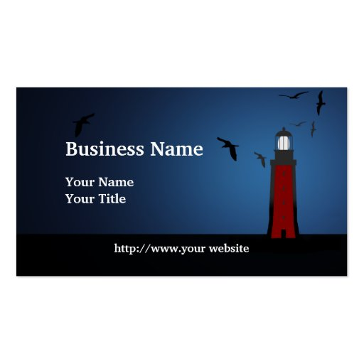 Nautical Lighthouse Custom Business Card