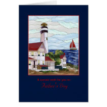Nautical Lighthouse Outdoor Scene - Father's Day Card
