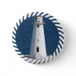 Nautical Lighthouse Round Button