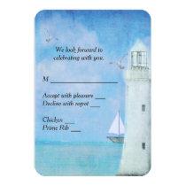 Nautical Lighthouse RSVP Invitation
