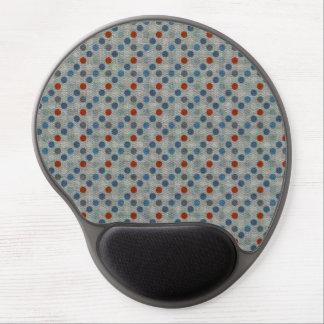 Nautical Linen Dots Gel Mousepads
