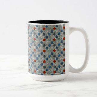 Nautical Linen Dots Mugs