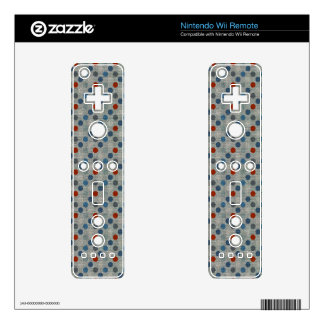 Nautical Linen Dots Nintendo Wii Remote Decal
