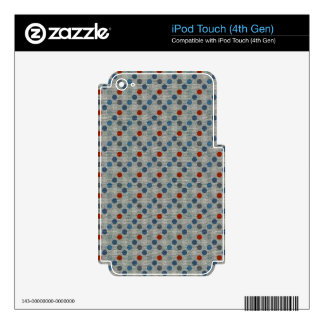 Nautical Linen Dots Decal For iPod Touch 4G