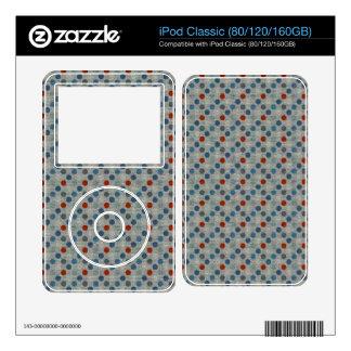 Nautical Linen Dots iPod Decal