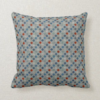 Nautical Linen Dots Throw Pillow