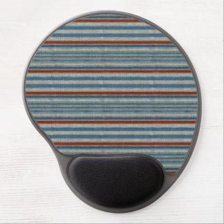 Nautical Linen Stripe Gel Mouse Mat