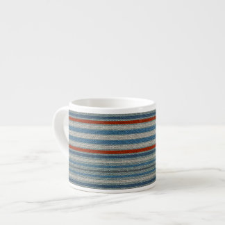 Nautical Linen Stripe Espresso Mugs