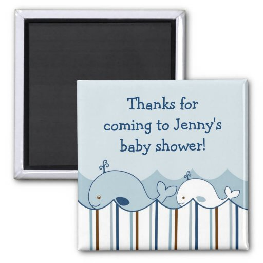 Nautical Little Whale Baby Shower Favor Magnets