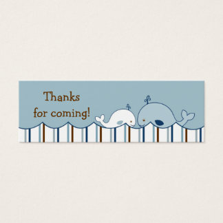 Nautical Little Whale Birthday Favor Gift Tags