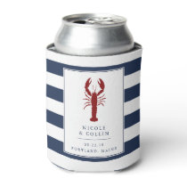 Nautical Lobster Wedding Favor Can Cooler