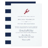 Nautical Lobster Wedding Invitation