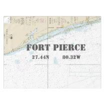 Nautical Longitude Latitude Fort Pierce FL Tablecloth