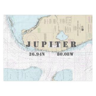 Nautical Longitude Latitude Jupiter FL Tablecloth