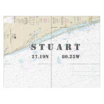 Nautical Longitude Latitude Stuart FL Tablecloth