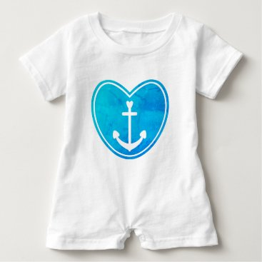 Beach Themed Nautical Love Baby Romper