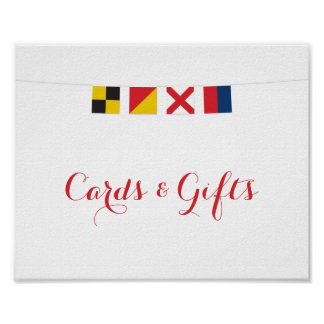 Nautical LOVE Flags Cards and Gifts Sign